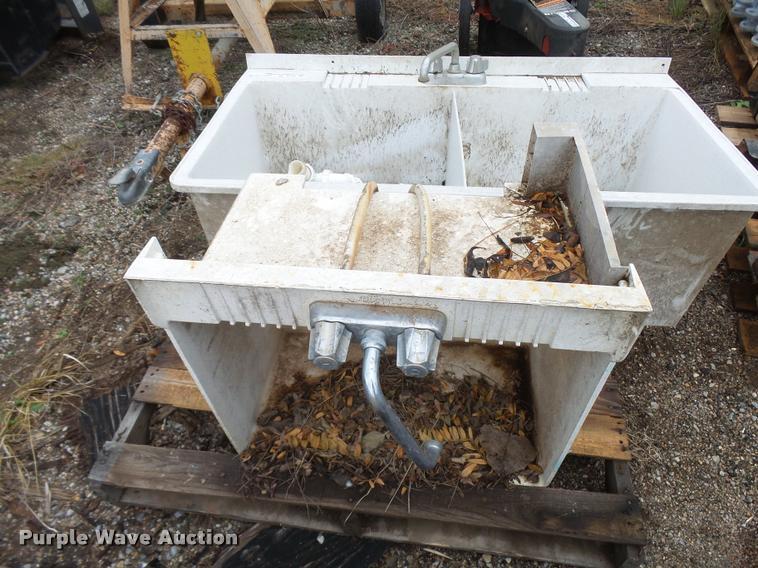 (2) hard plastic utility sinks