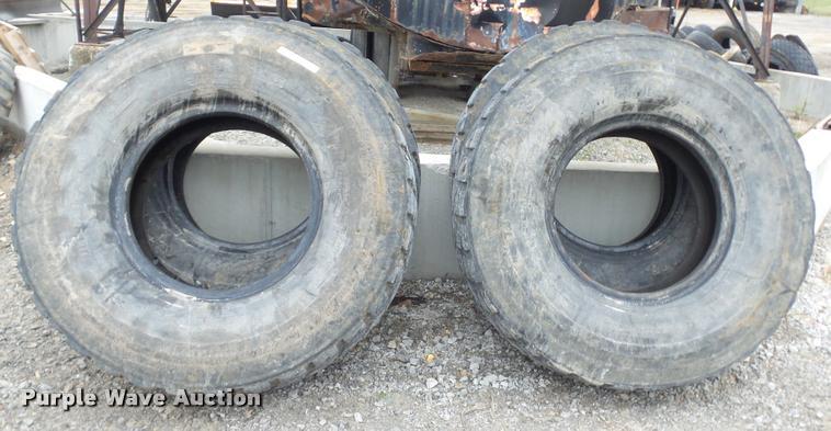 (4) Bridgestone 14.00R24 tires