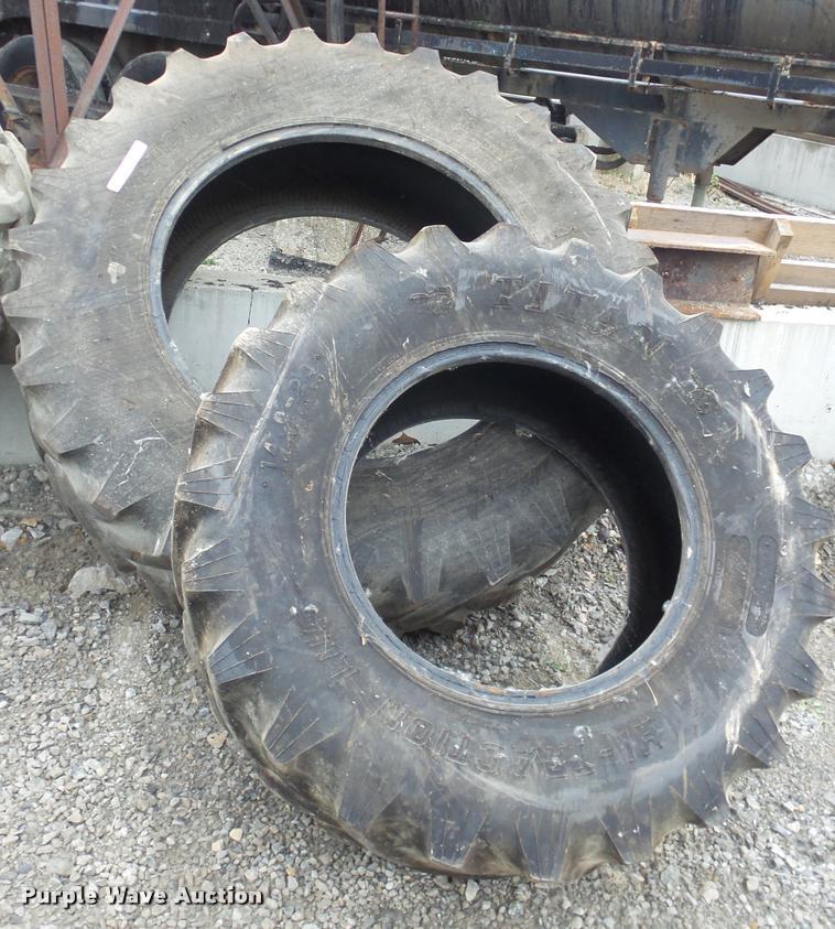 (2) Titan tractor tires