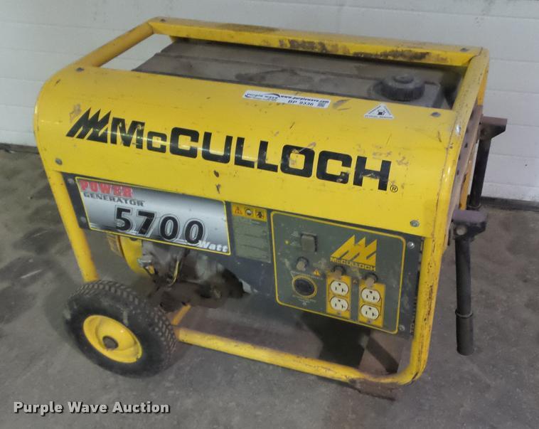 Mcculloch 5700 generator