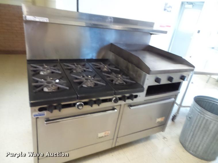 South Bend oven with grill top