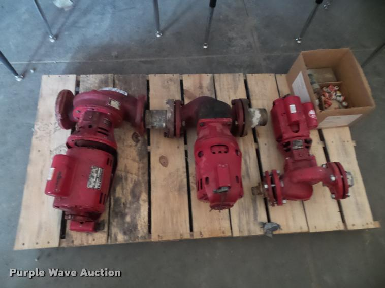(3) water circulating pumps
