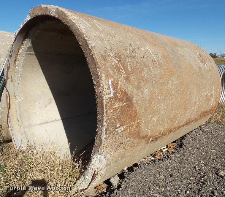 (2) concrete drain pipes