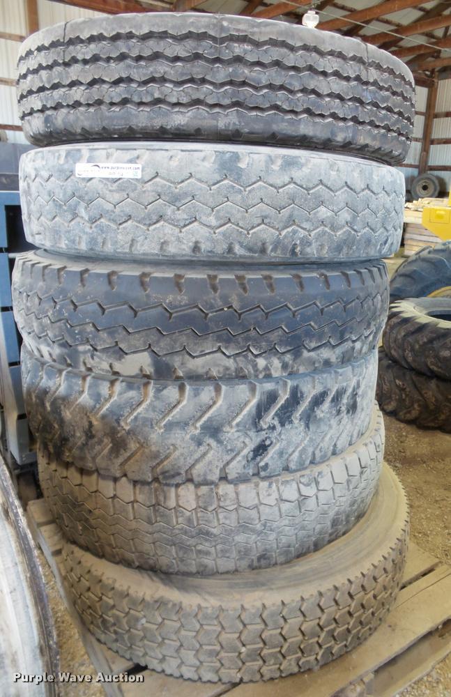 (6) 10.00R20 tires