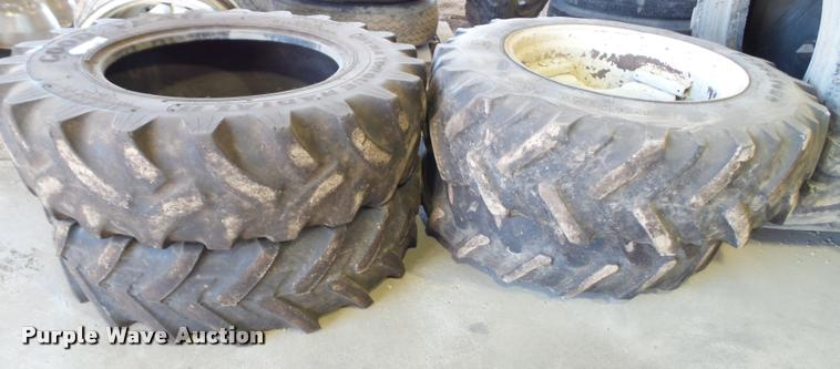(4) 12.4R24 tires and wheels