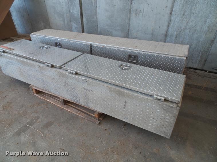 (2) Delta Pro diamond plate toolboxes