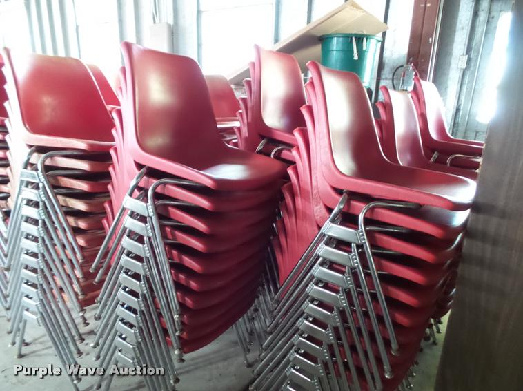 Approximately 300 plastic chairs
