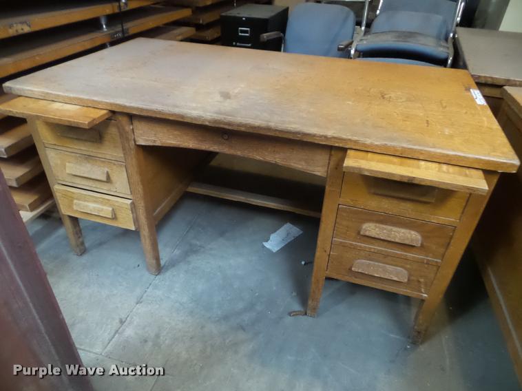 (3) wood desks
