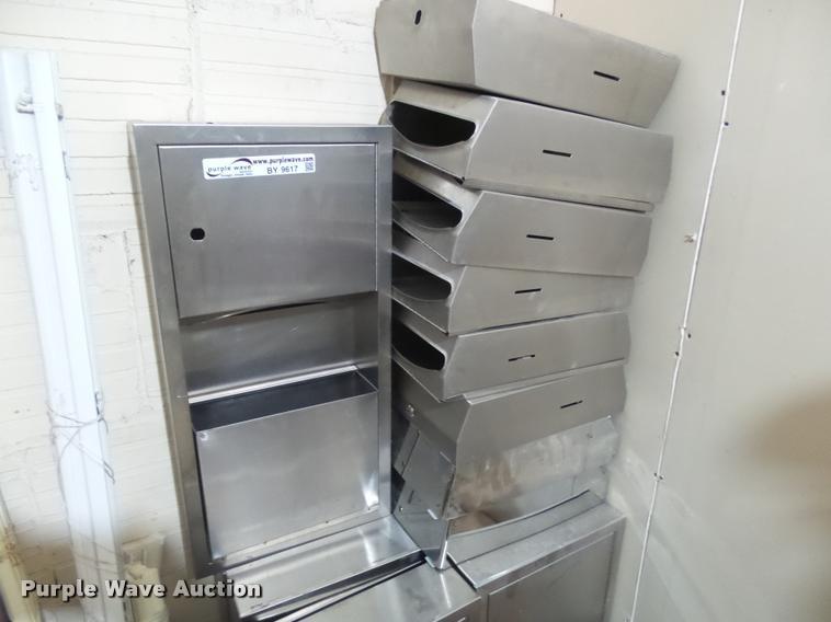 Stainless steel paper towel holders
