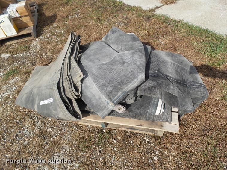 Canvas and four mesh tarps