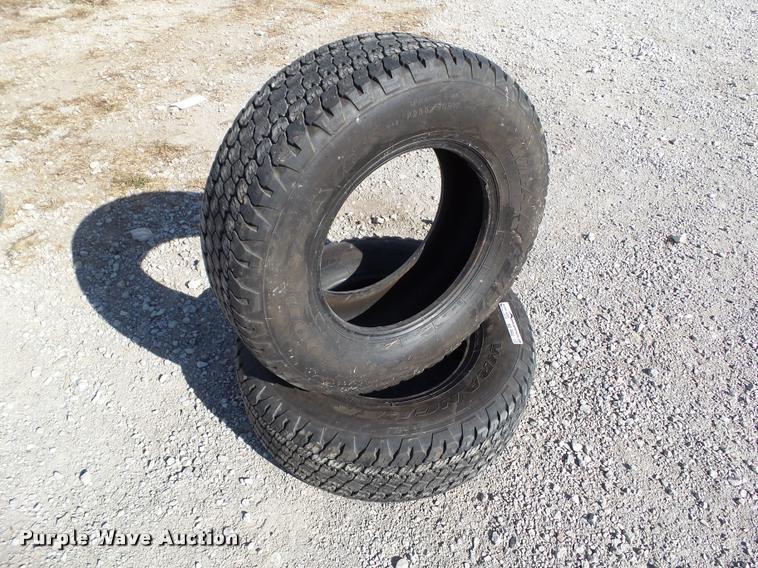 (2) Goodyear Wrangler AT/S P265/70R17 tires