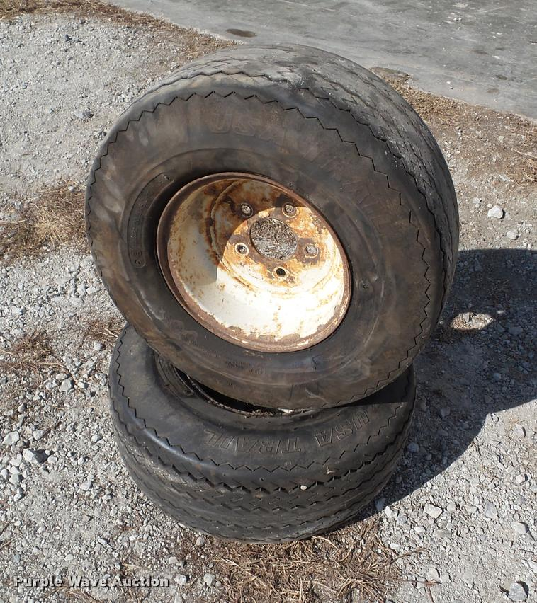 (2) 20.5x8.0-10 tires and wheels