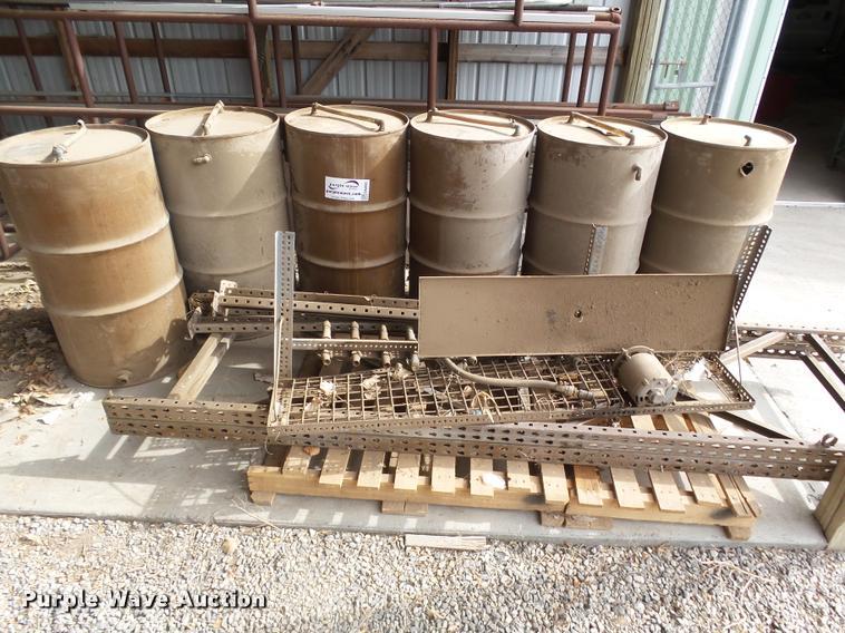 Six barrel oil dispensing system