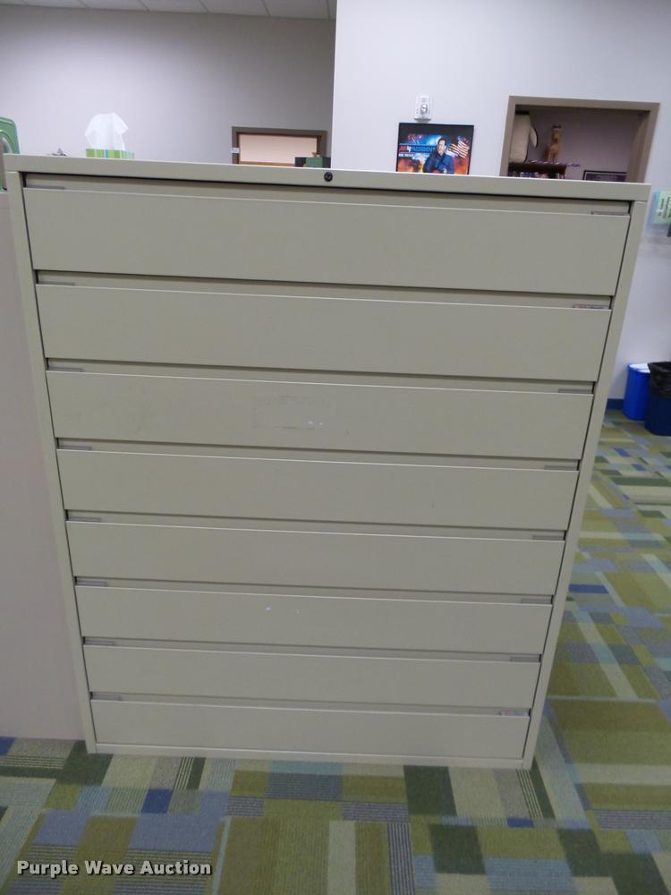 (2) Russ Bassett metal cabinets