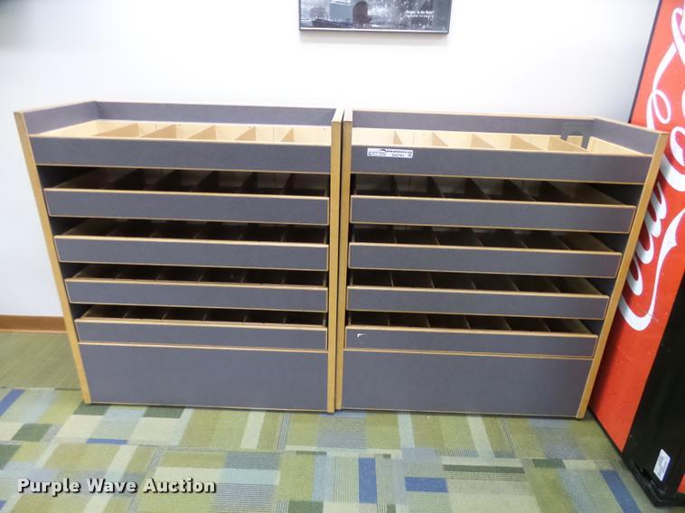 (2) wood CD cabinets