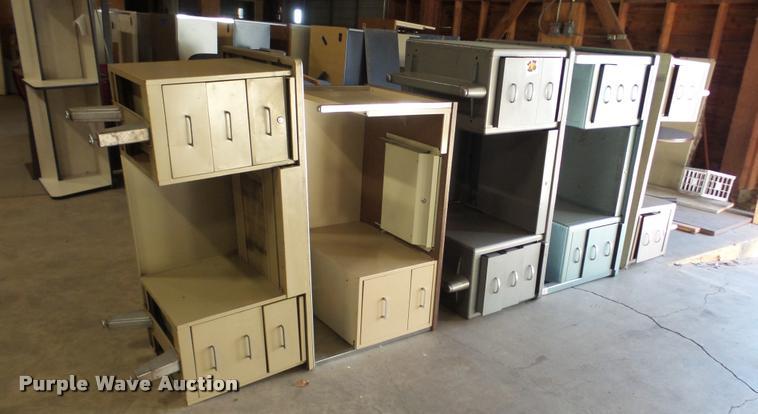 (5) metal desks
