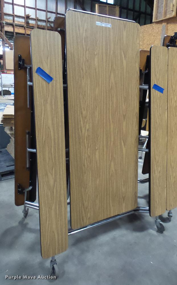 (2) folding lunch tables