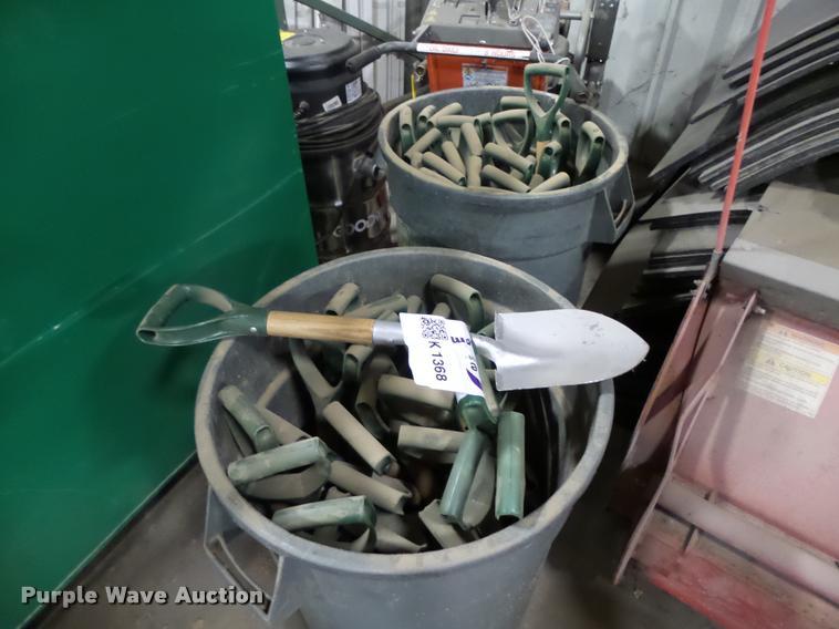 Approximately 40 shovels