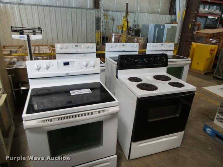 (5) Whirlpool four burner electric stoves