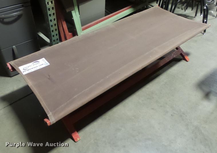 (3) canvas cots
