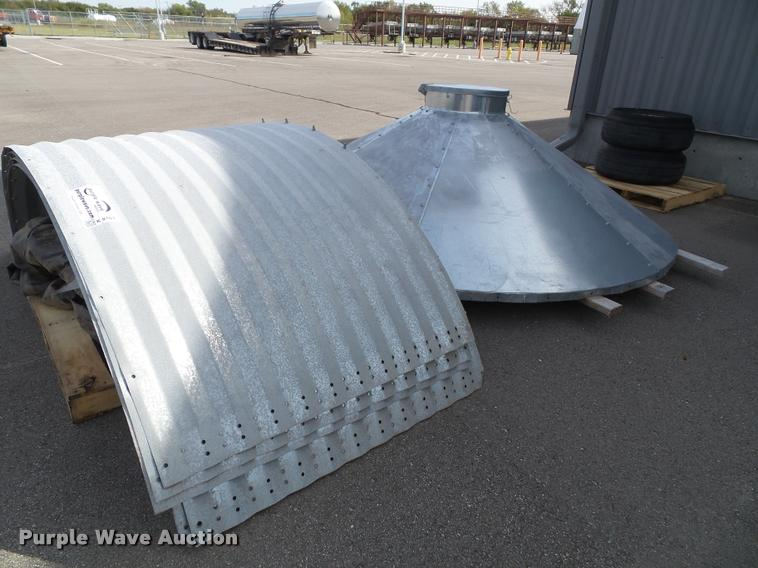 Corrugated steel rain water collection system