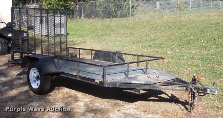 Shop built utility trailer