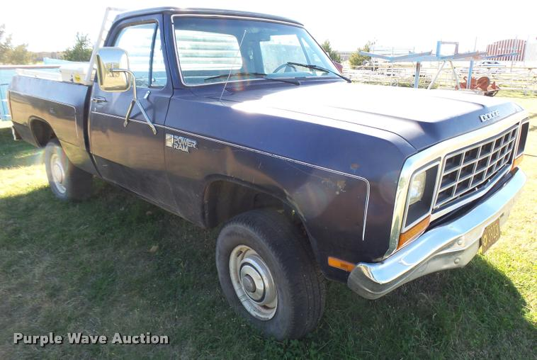 1985 Dodge W150 pickup truck