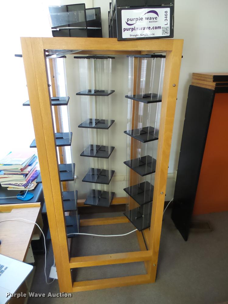Wood display shelf