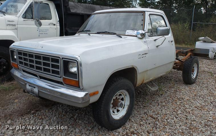 1984 Dodge W250 pickup truck cab and chassis