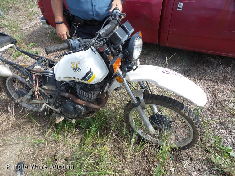 1983 Yamaha XT motorcycle