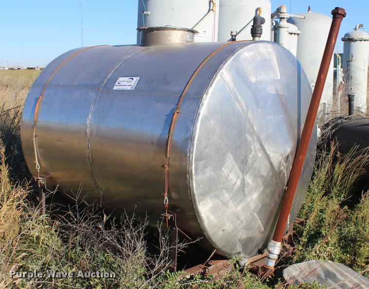 Shop built stainless steel tank