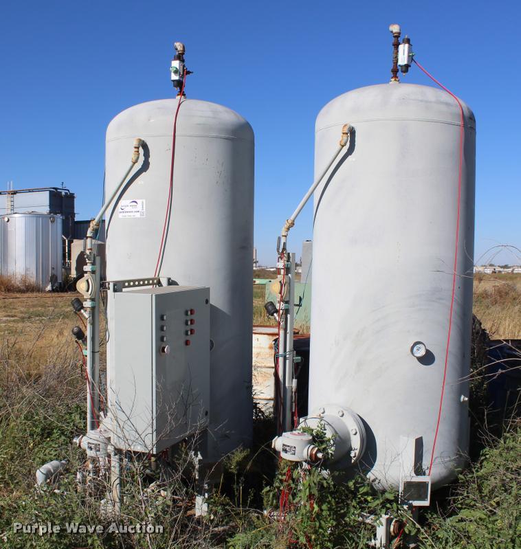 (2) Morfab Manufacturing vertical steel tanks
