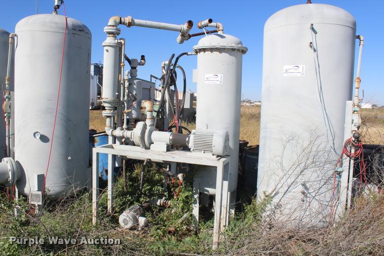 (2) vertical tanks