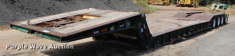 1990 Load King 503/4DF lowboy equipment trailer