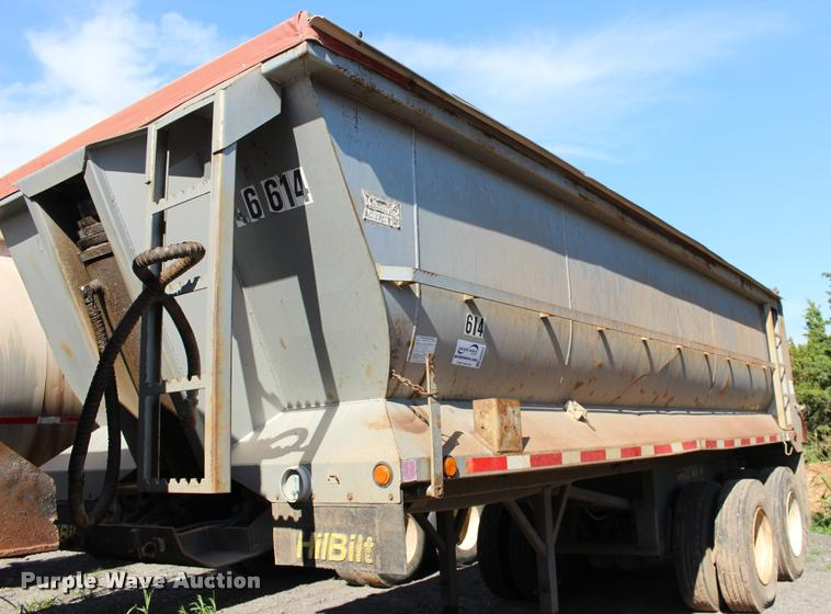 2003 Hilbilt barrel end dump trailer