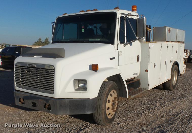 2001 Freightliner FL60 service truck with crane
