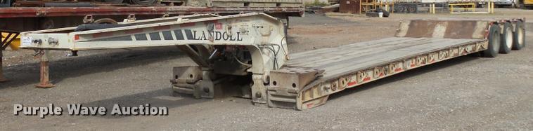 1993 Landoll 50T lowboy equipment trailer