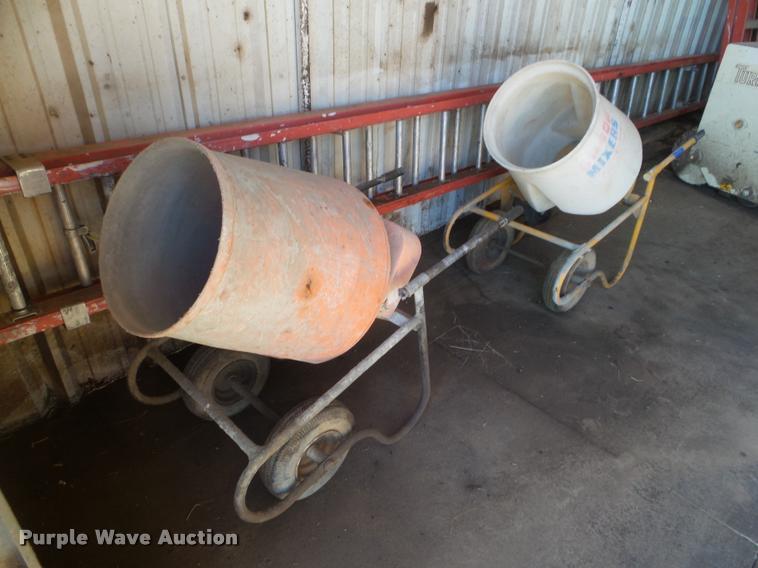 (2) concrete mixers