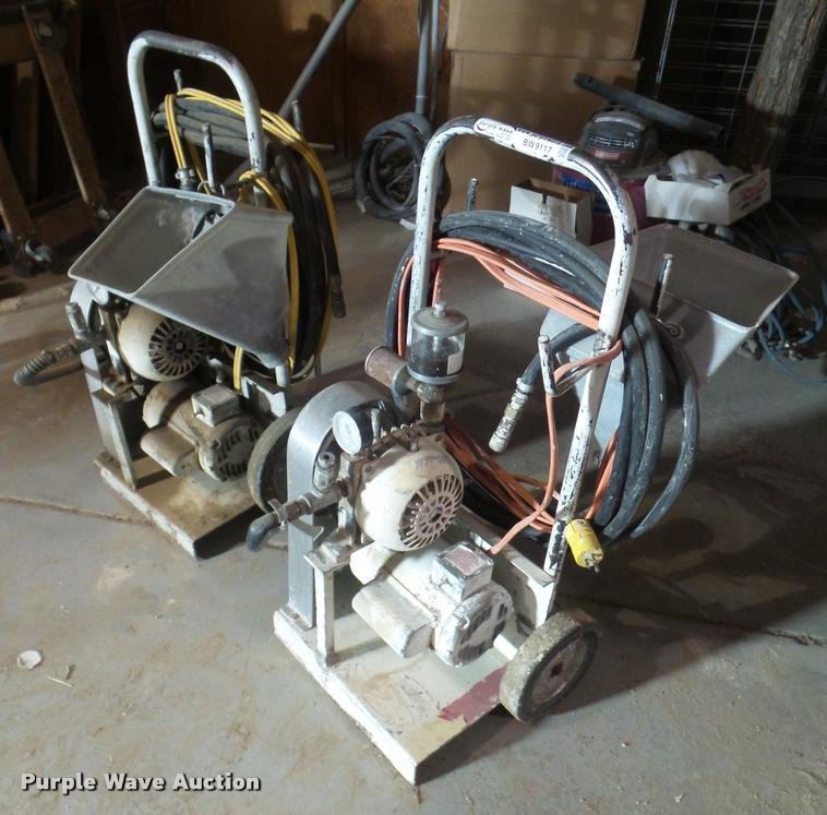 (2) texture sprayers and hoppers