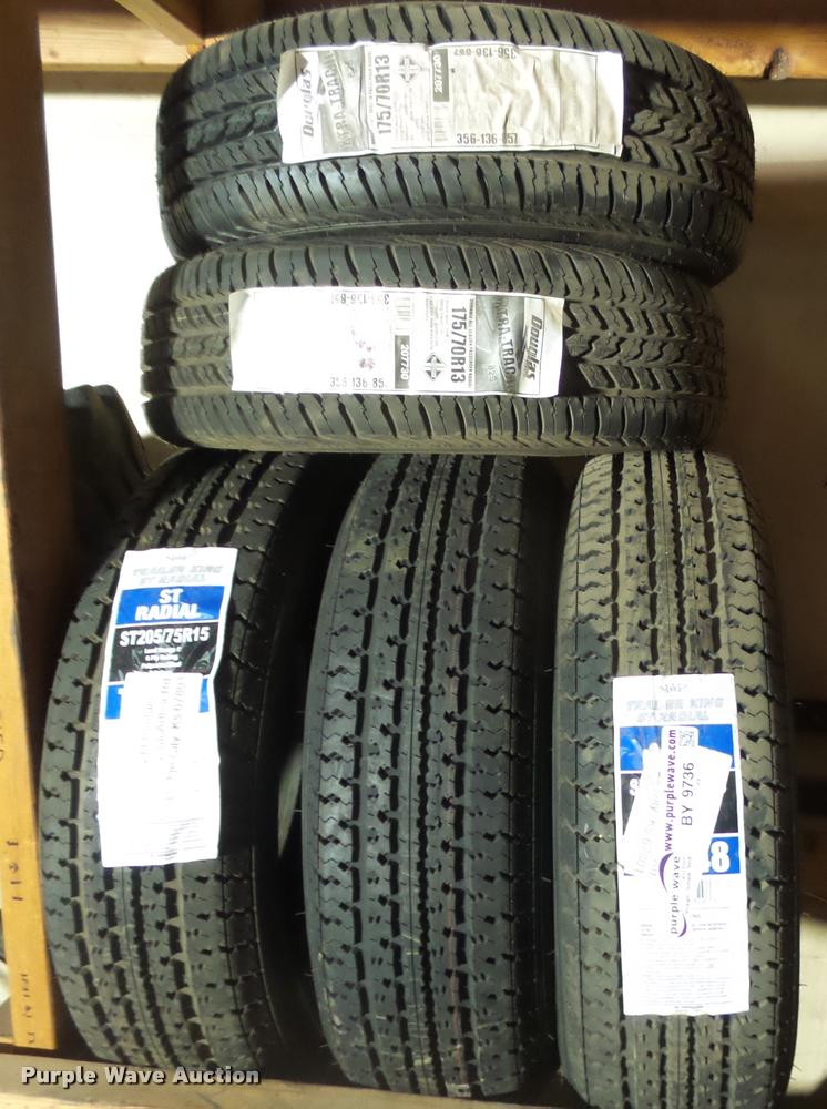 (3) ST205/75R15 tires