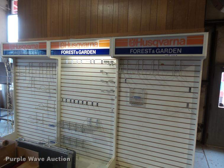 (4) Husqvarna display racks