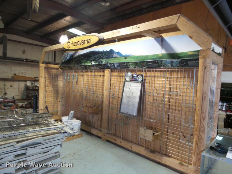 Husqvarna timber rack display