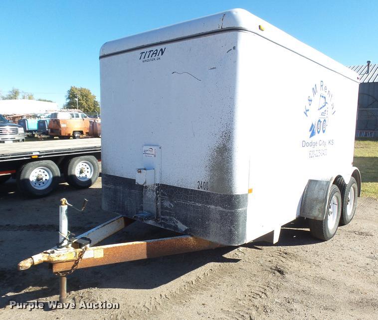 2002 Titan enclosed cargo trailer