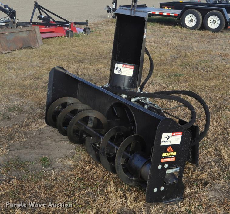 2010 Erskine skid steer snow blower