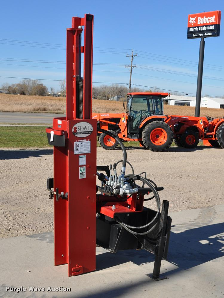 2013 Shaver HD12 skid steer post driver