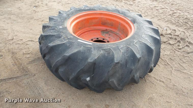Goodyear 18.4-30 tire and wheel
