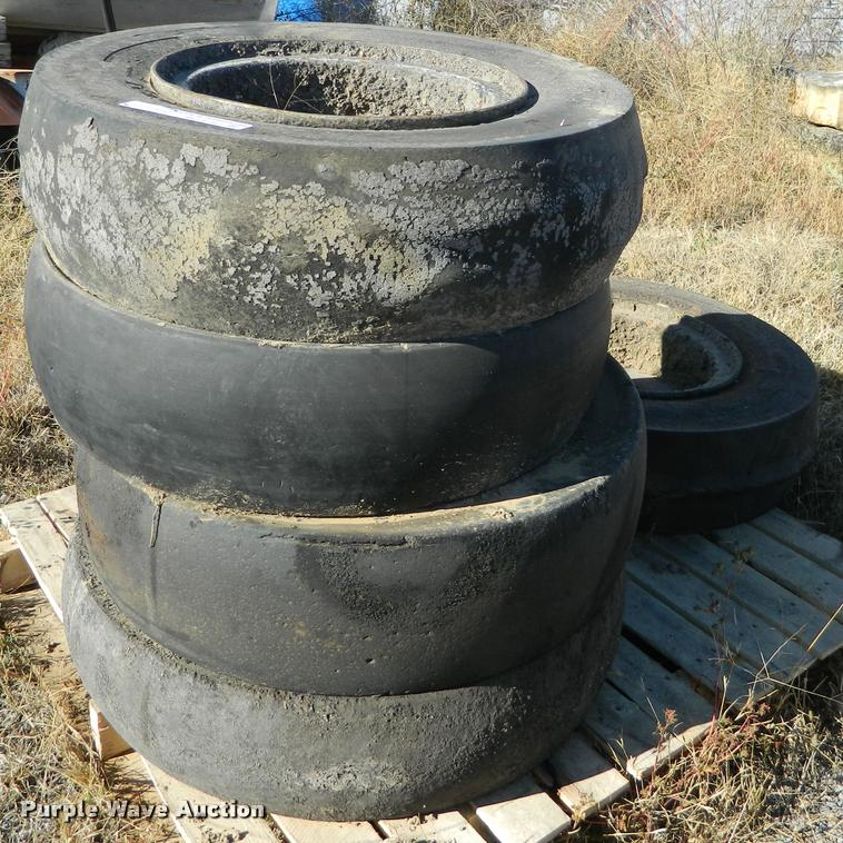 (5) 7.50-15 NHS compactor tires and wheels