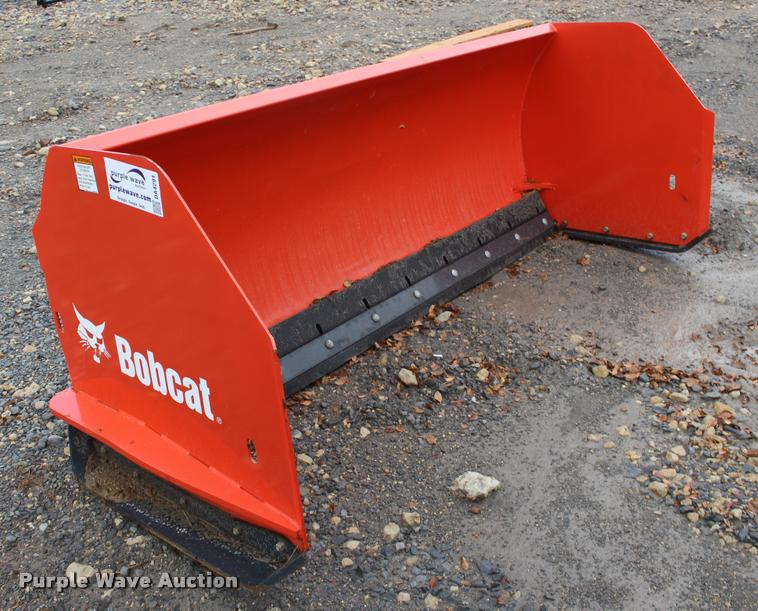 Bobcat skid steer snow plow