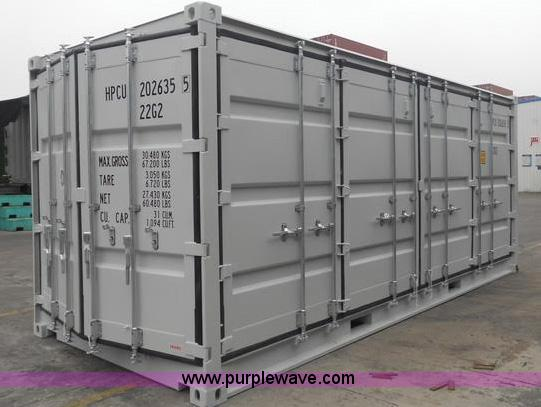 Single trip shipping container