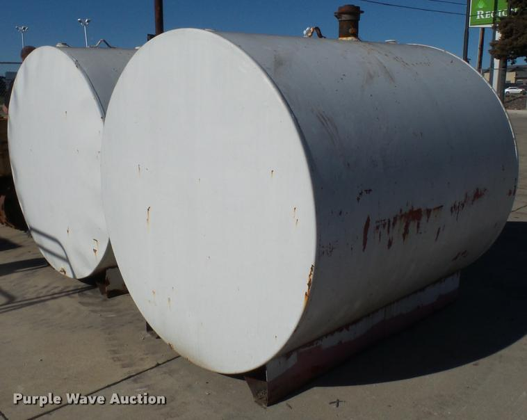 (2) bulk oil tanks